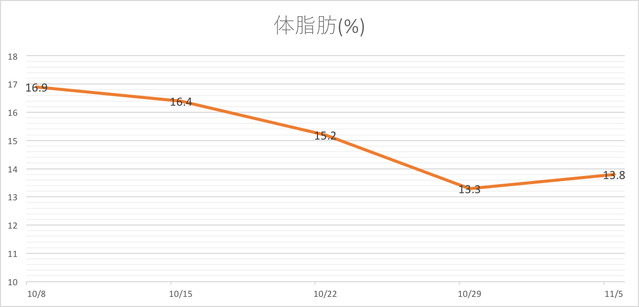 ダイエット 体脂肪 グラフ